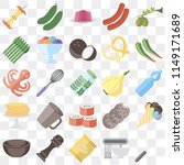 set of 25 icons such as fork ... | Shutterstock .eps vector #1149171689