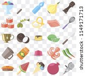 set of 25 icons such as grinder ...