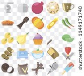 set of 25 icons such as ice...
