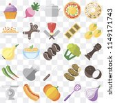 set of 25 icons such as onion ...