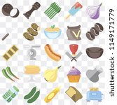 set of 25 icons such as toaster ... | Shutterstock .eps vector #1149171779