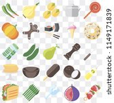 set of 25 icons such as kebab ... | Shutterstock .eps vector #1149171839