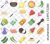 set of 25 icons such as fork ... | Shutterstock .eps vector #1149172280