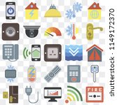 set of 25 icons such as fire... | Shutterstock .eps vector #1149172370