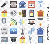 set of 25 icons such as remote  ...