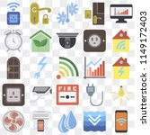 set of 25 icons such as mobile  ...