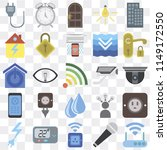 set of 25 icons such as modem ...