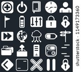 set of 25 icons such as lock ...