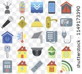 set of 25 icons such as wifi ...