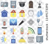 set of 25 icons such as dial ...