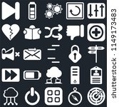 set of 25 icons such as radar ...