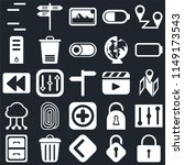 set of 25 icons such as locked  ...