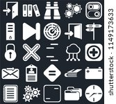 set of 25 icons such as clock ...
