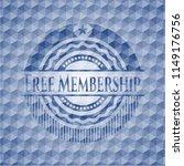 free membership blue emblem or... | Shutterstock .eps vector #1149176756
