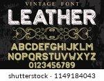 classic vintage decorative font ... | Shutterstock .eps vector #1149184043