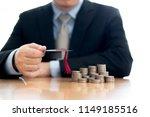 businessman saveing for... | Shutterstock . vector #1149185516