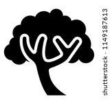 a dense bushy tree with bark   | Shutterstock .eps vector #1149187613