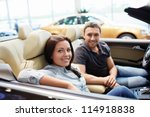 young couple in a cabriolet | Shutterstock . vector #114918838