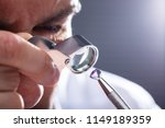 close up of a male jeweler's... | Shutterstock . vector #1149189359