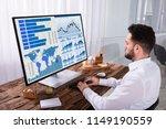 young male stock market broker... | Shutterstock . vector #1149190559
