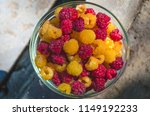 a bowl of eco berries   yellow... | Shutterstock . vector #1149192233