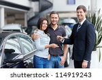 seller and a couple of with the ... | Shutterstock . vector #114919243