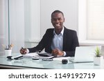 happy african businessman... | Shutterstock . vector #1149192719