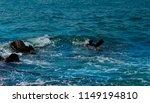 weaves on the sea  blue water ... | Shutterstock . vector #1149194810