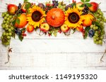 thanksgiving background with...   Shutterstock . vector #1149195320