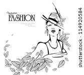 fashion women | Shutterstock .eps vector #114920584