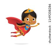 flying african american girl... | Shutterstock .eps vector #1149208286