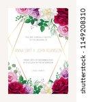 wedding floral  invitation ... | Shutterstock .eps vector #1149208310