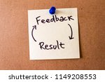 """""""feedback and result"""" cycle...   Shutterstock . vector #1149208553"""