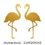 golden flamingo. isolated.... | Shutterstock .eps vector #1149209243