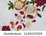 flatlay of various beauty  bath ...   Shutterstock . vector #1149219329