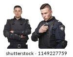 cops in uniform and body armor... | Shutterstock . vector #1149227759