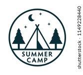 summer camp vector badge | Shutterstock .eps vector #1149228440