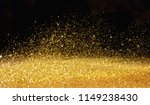 real gold glitter particles ... | Shutterstock . vector #1149238430