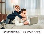cute child. pleasant nice boy... | Shutterstock . vector #1149247796