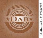 dab realistic wooden emblem | Shutterstock .eps vector #1149247949
