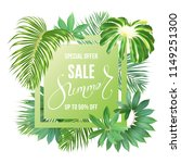 photo realistic palm leaves and ...   Shutterstock .eps vector #1149251300