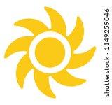 a hand drawn sun with fan like ... | Shutterstock .eps vector #1149259046