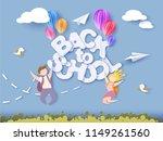 back to school 1 september card.... | Shutterstock .eps vector #1149261560