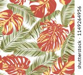summer exotic floral tropical... | Shutterstock .eps vector #1149264956