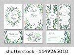 eucalyptus design. wedding... | Shutterstock .eps vector #1149265010