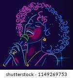 jazz singer neon sign | Shutterstock .eps vector #1149269753
