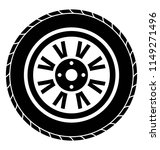tyre with peg like shapes... | Shutterstock .eps vector #1149271496