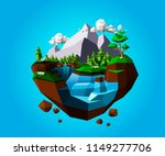 low polygonal geometric trees... | Shutterstock .eps vector #1149277706