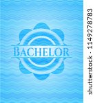 bachelor water wave style badge. | Shutterstock .eps vector #1149278783
