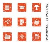 handling icons set. grunge set... | Shutterstock .eps vector #1149284789